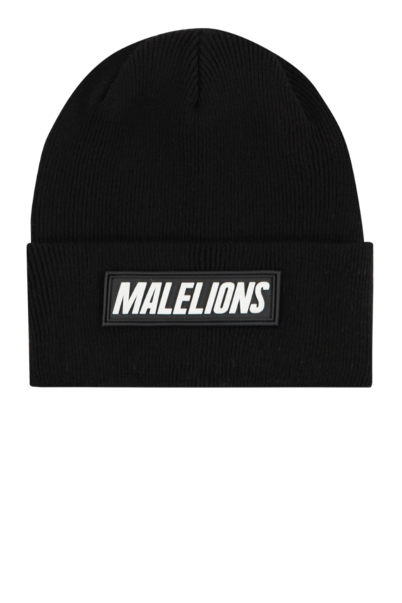 Malelions Signature Beanie BLACK  new